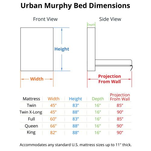 Urban Murphy Bed Dimensions