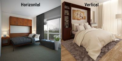 Horizontal compared to vertical orientation